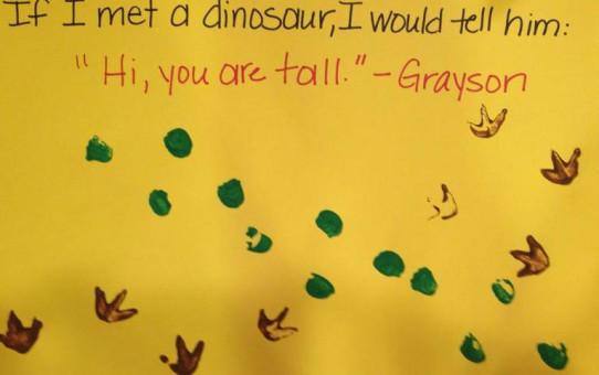 If I Met A Dinosaur...